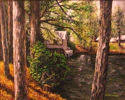 The Old Grist Mill Art Print by Laurie Golden