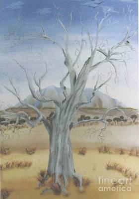 Painting - The Old Gum Tree by Debra Piro