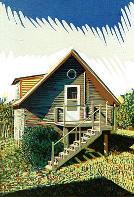 The Old Log Cabin Guesthouse Art Print