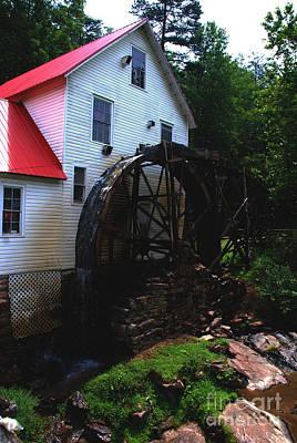 The Old Mill 1886 In Cherokee North Carolina - II  Art Print by Susanne Van Hulst