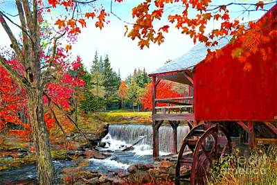 The Old Mill In Weston Vermont Art Print by Earl Jackson