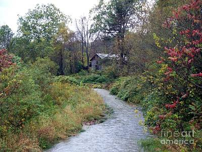 The Old Mill Stream Art Print by Christian Mattison