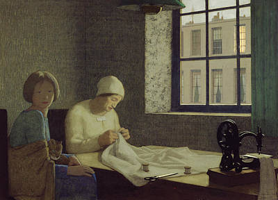 Sewing Machine Painting - The Old Nurse by Frederick Cayley Robinson