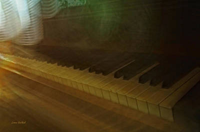 The Old Piano Print by Donna Blackhall