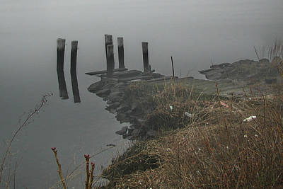 Photograph - The Old Pier In The Fog by Barry Doherty