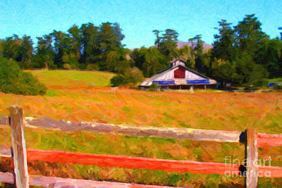 The Old Ranch At Midday Art Print