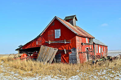 The Old Red Barn Art Print by Brenda Becker