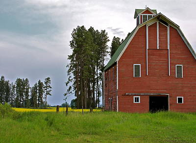 Photograph - The Old Red Barn by Karon Melillo DeVega
