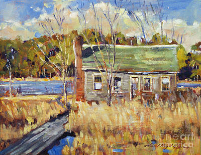The Old Relic - Plein Air Original by David Lloyd Glover