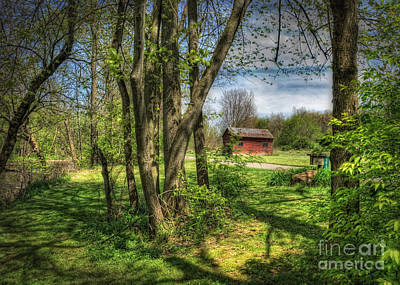 Old Country Roads Photograph - The Old River Shed by Pamela Baker