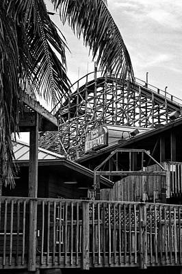 The Old Roller Coaster II Original by Dieter  Lesche