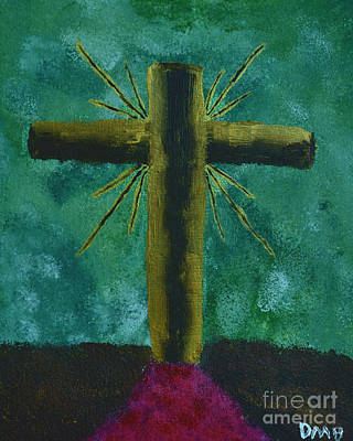 Painting - The Old Rugged Cross by Donna Brown
