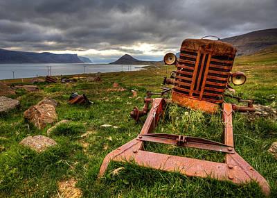 The Old Rust Tractor Art Print by Arnar B Gudjonsson
