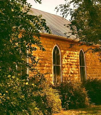 The Old Stone Church Print by Lynne and Don Wright