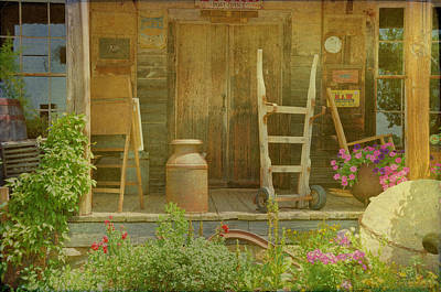 Photograph - The Old Store Porch by Jan Amiss Photography