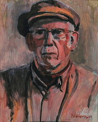 Painting - The Old Timer by Sid Solomon