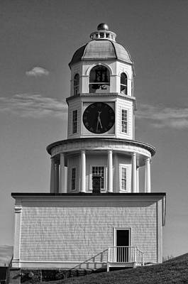 Halifax Town Clock Photograph - The Old Town Clock In Halifax Nova Scotia by Sandra Adamson
