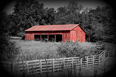 Photograph - The Old Tractor Shed Colorized by David Dunham
