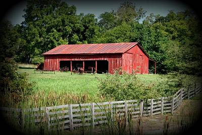 Photograph - The Old Tractor Shed In Vignette by David Dunham