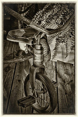 Photograph - The Old Tricycle by James Woody