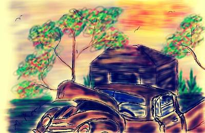 Southern Comfort Digital Art - The Old Truck by Mark Moore