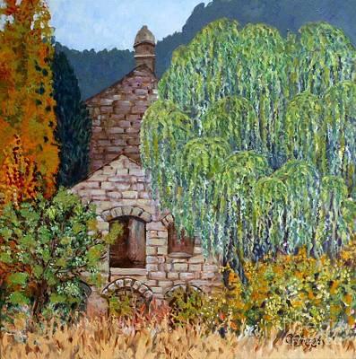 The Old Willow Tree Art Print by Caroline Street