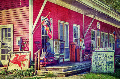 The Olde Country Store Art Print by Kathy Jennings