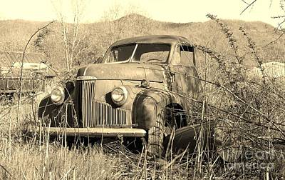 Art Print featuring the photograph The Ole Studebaker by Laurinda Bowling