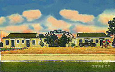 Painting - The Oleander Courts Motel And Diner In Eunice La by Dwight Goss