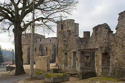 In Ruin Photograph - The Once Grand Town Of Oradour by Georgia Fowler