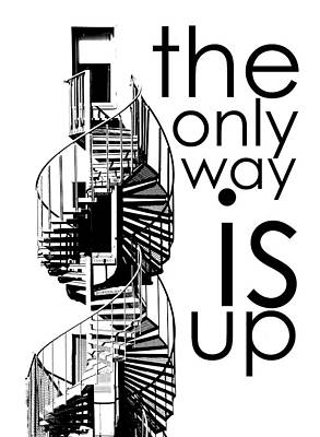 The Only Way Is Up Art Print by Per Lidvall