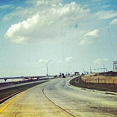 The Open Road #notraffic #random #hdr Art Print by Kel Hill