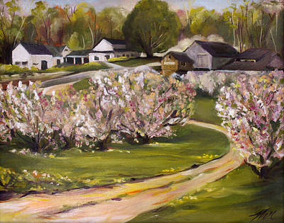 Painting - The Orchard by Nancy Griswold