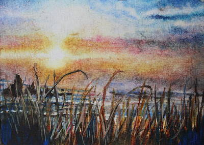 The Oregon Coast At Sunset Art Print