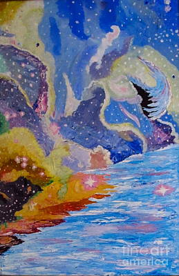 Painting - The Other Galaxy by Phyllis Kaltenbach