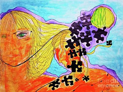 Mixed Media - The Other Self by Patsy Gunn