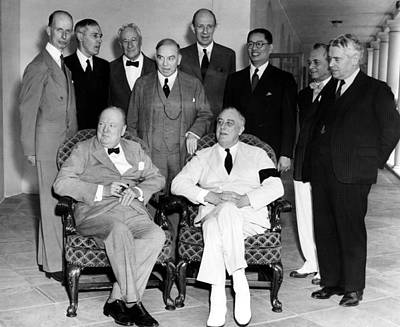 The Pacific War Council, Front, L-r Print by Everett