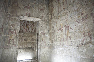 Thoth Photograph - The Painted Walls Of The Ancient Temple by Taylor S. Kennedy