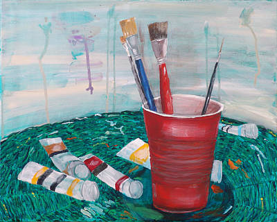 Painting - The Painters Table by Kevin Callahan