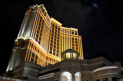 Photograph - The Palazzo At Night by Loree Johnson