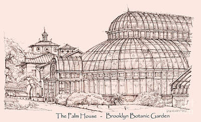 The Palm House In Pink Art Print by Adendorff Design