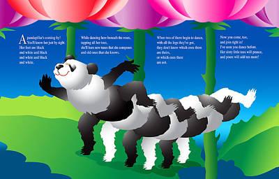 Creativity Drawing - The Pandapillar by Gene Rosner