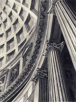 Drawing - The Pantheon by Norman Bean
