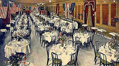 Painting - The Park Avenue Hotel Banquet Hall In 1910 by Dwight Goss