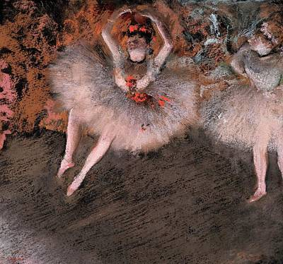 Ballet Dancers On The Stage Pastel - The Pas Battu by Edgar Degas