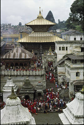 Religious Characters And Scenes Photograph - The Pashupatinath Temple by James P. Blair