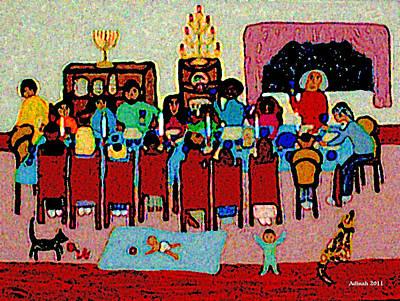 Passover Digital Art - The Passover Seder by Adinah John