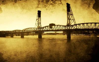 The Past Of Hawthorne Bridge Art Print by Cathie Tyler