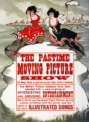 Hands Behind Head Photograph - The Pastime Moving Picture Show by Everett