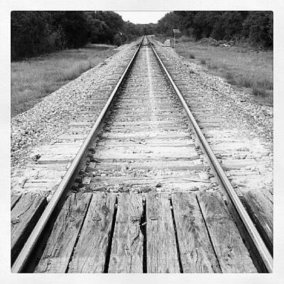 Track Photograph - The Path Is Set by James Granberry